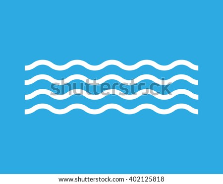 Waves icon - stock vector