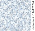 Waves seamless pattern - stock vector
