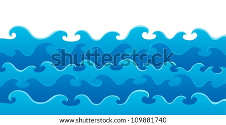 Waves theme image 5 - vector illustration. - stock vector