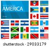 "Waving Flags of North & Central American Countries. Design ""Waves & No Borders"". Shadows (waving design) can be easily removed from vector file if needed. - stock photo"