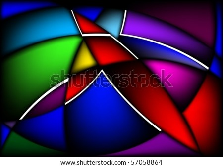Wavy abstract bright colorful background for design. Black release.