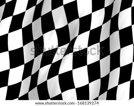 Checkered Race Flag Crocheted Blanket - What's New