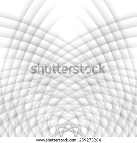 Wavy grey white background. Vector of abstract waves. - stock vector