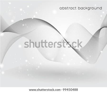 wavy lines beautiful abstract background - stock vector