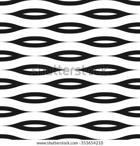 Wavy lines seamless pattern. Abstract fashion volume texture. Geometric monochrome template. Graphic style for wallpaper, wrapping, fabric, background design, apparel, prints. Vector illustration - stock vector