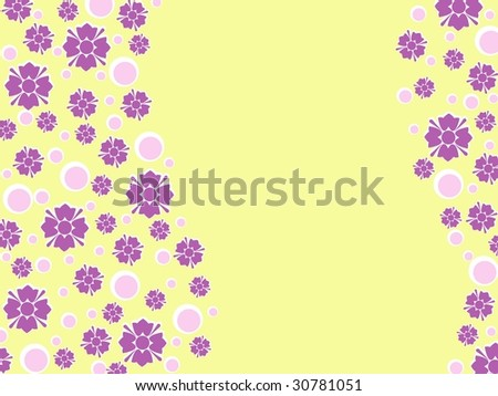 Wavy Retro floral background (vector); a JPG version is also available - stock vector