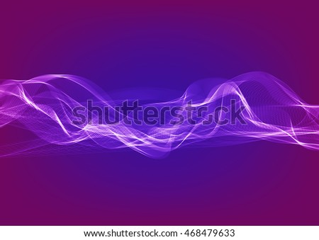 Wavy ribbons vector background