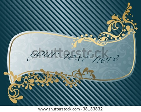 Wavy vintage Victorian frame (vector); a JPG version is also available - stock vector