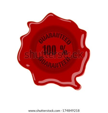 wax seal grunge stamp on white vector illustration