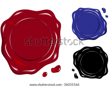 wax seal in various colors