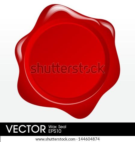 wax seal vector - stock vector