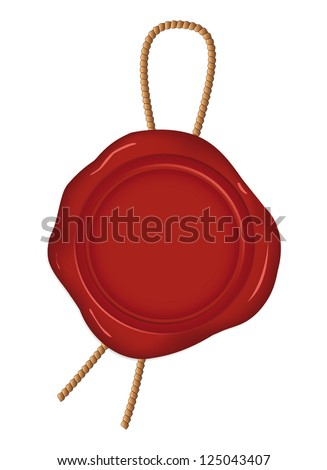 Wax seal. Vector illustration