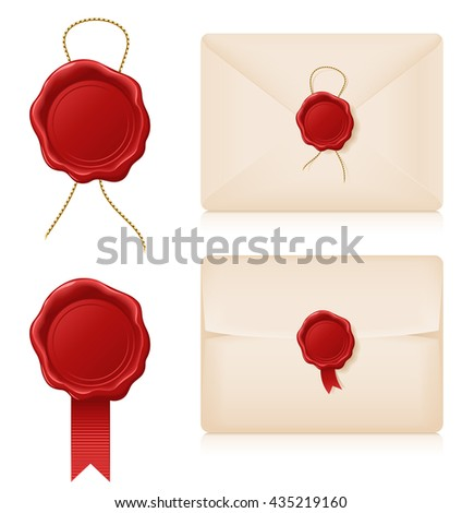Wax seals and envelopes