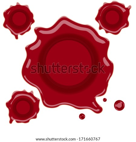 wax stamp vector illustration
