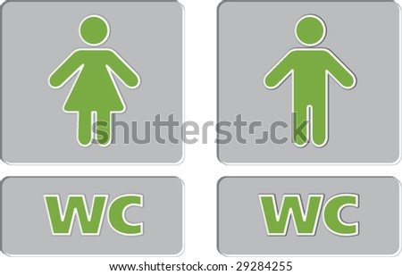 WC - stock vector