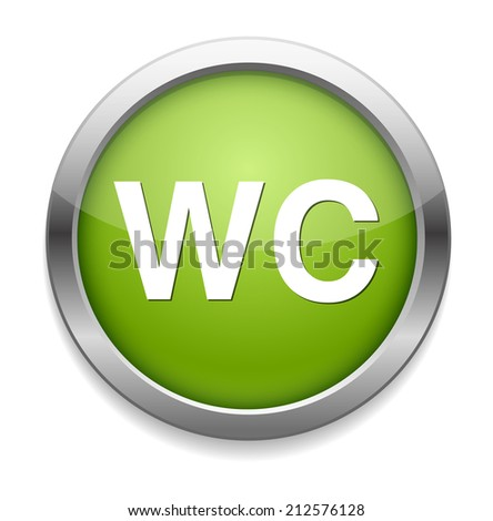 wc icon - stock vector