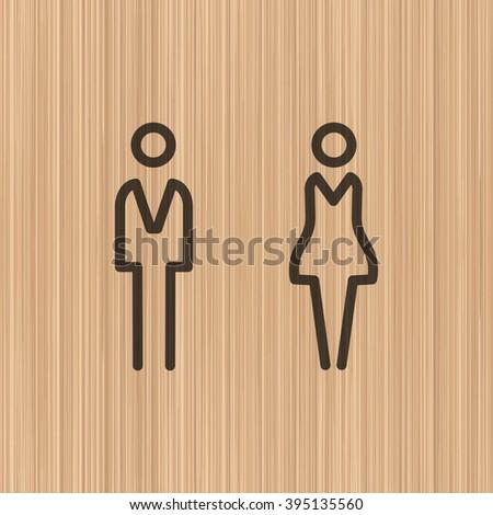WC icon. WC icon Vector. WC icon Art. WC icon eps. WC icon Image. WC icon logo. WC icon sign. WC icon flat. WC icon design. WC icon app. WC icon UI. WC icon web. WC icon line. WC icon simple. icon WC. - stock vector