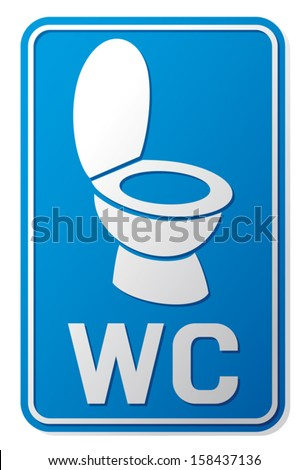 Wc Sign Toilet Label