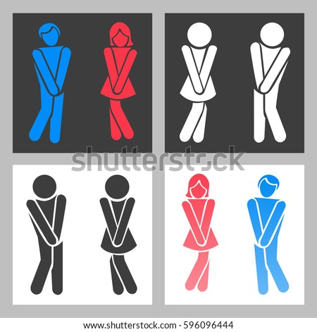 Bathroom Signs Vector funny bathroom signs stock images, royalty-free images & vectors