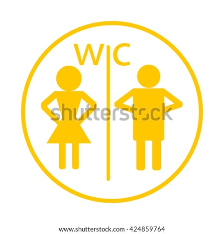 WC. toilet icon - stock vector