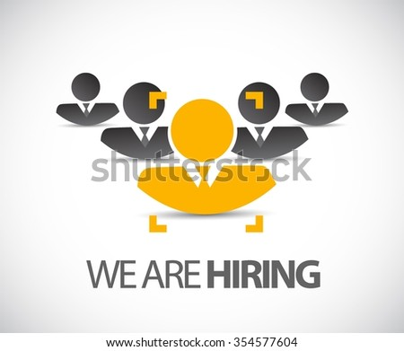 we are hiring the right candidate concept illustration design graphic - stock vector