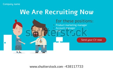 we recruiting now banner send your stock vector royalty free