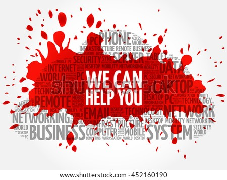 We can help you word cloud collage, business concept background - stock vector