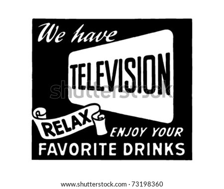 We Have Television 2 - Retro Ad Art Banner
