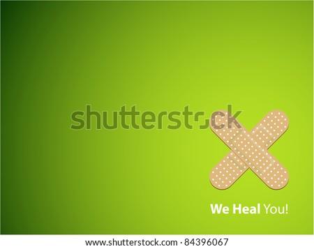We heal you - background - stock vector