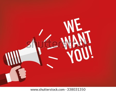 We want you! - stock vector