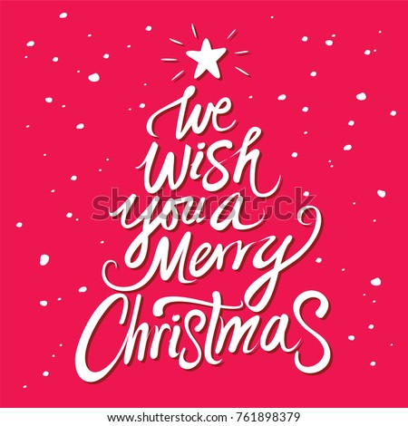 We Wish You Merry Christmas Text Stock Vector Royalty Free