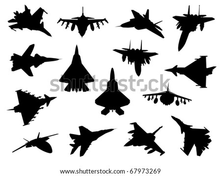 Fighter Jet Identification Silhouettes