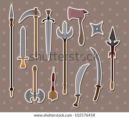weapon stickers - stock vector