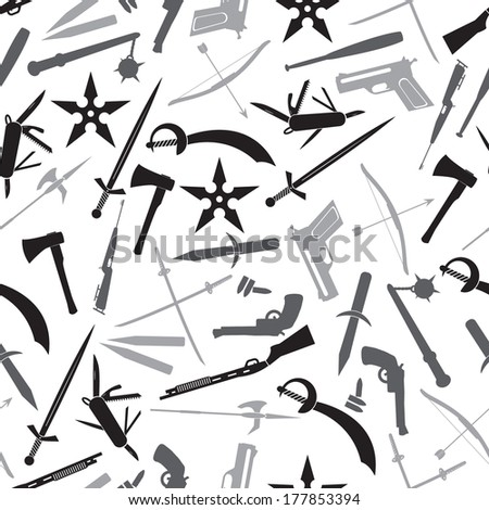 weapons and guns gray pattern eps10 - stock vector