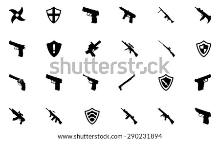 Weapons Vector Icons 3 - stock vector