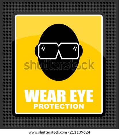 wear eye - stock vector