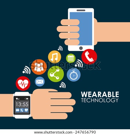 wearable technology design, vector illustration eps10 graphic - stock vector