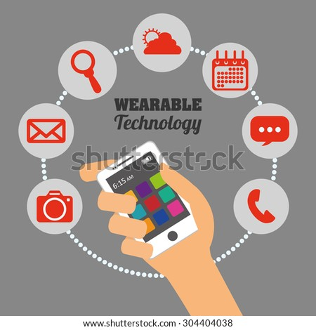 Wearable Technology digital design, vector illustration 10 eps graphic
