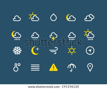 Weather and meteo icons - stock vector