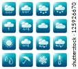 Weather and seasons icon set, eps10 vector - stock vector
