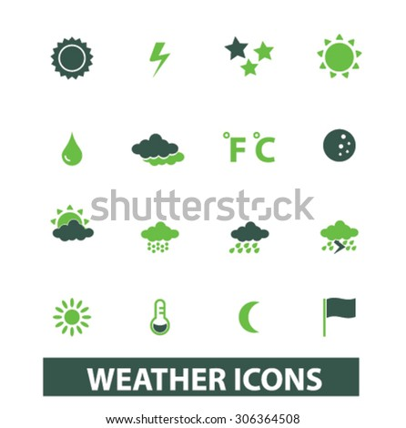 weather, climate icons, signs, illustrations  - stock vector