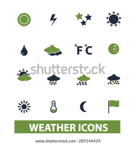 weather, climate isolated icons, illustrations, vector - stock vector