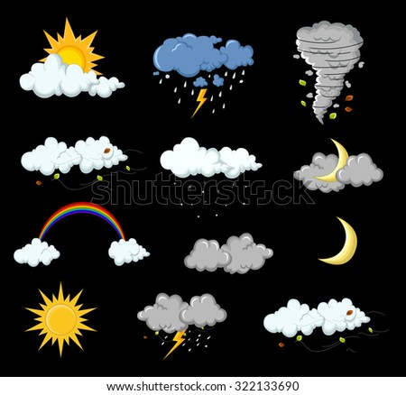 weather collection for you design - stock vector