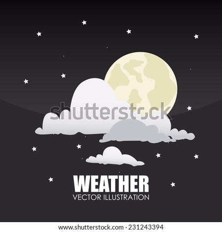 Weather design over gray background,vector illustration - stock vector
