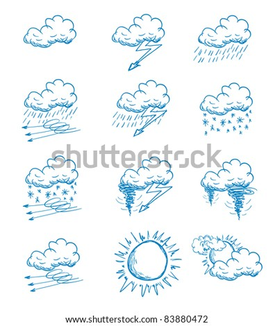 Weather icon Doodle - stock vector
