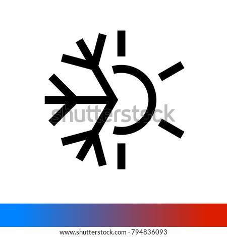 Weather Icon Half Snowflake Half Sun Stock Vector 2018 794836093