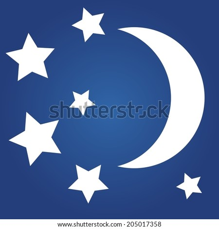 Weather icon - moon and stars.