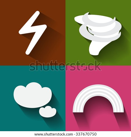Weather icon set in the white part 2 - stock vector