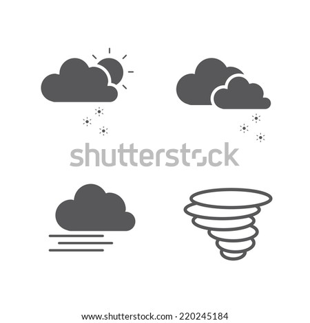Weather icon set. Vector design illustration. - stock vector