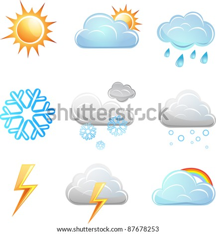 Weather icon vector set. elements for design - stock vector